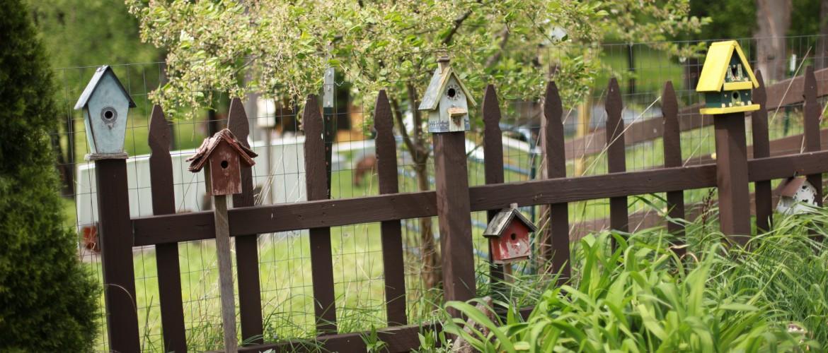 The Birdhouse Fence