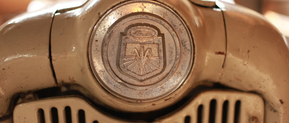 Emblem on Old Ford Tractor
