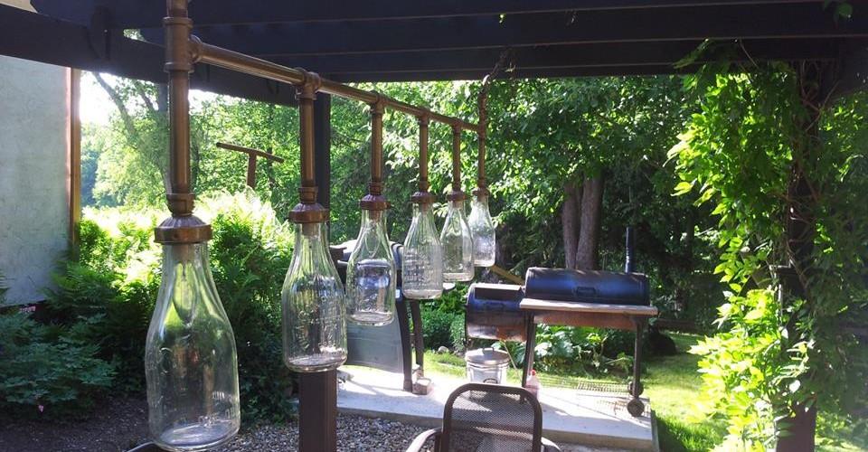 Vintage Milk Bottles for Outdoor Light